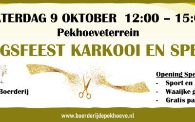 Openingsfeest zaterdag 9 oktober!